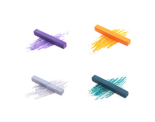 Pastel crayon chalk isolated