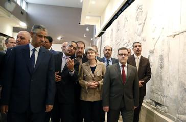 UNESCO Director General Irina Bokova visits the Iraqi National Museum in Baghdad