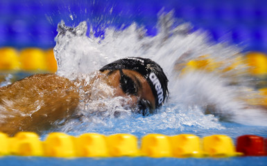 Paltrinieri of Italy swims to win and set a new European record in the men's 1500m freestyle final at the European Swimming Championships in Berlin