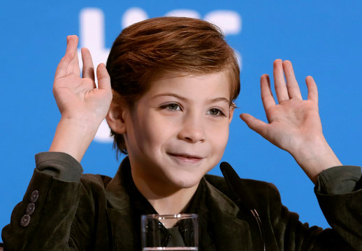 Actor Jacob Tremblay attends a news conference to promote the film Burn Your Maps at TIFF