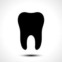 Tooth vector icon. Dental symbol