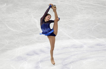 Russia's Julia Lipnitskaia competes during the women's short program at the ISU World Figure Skating Championships in Saitama