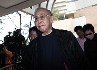 Rafael Hui, Hong Kong's former chief secretary, arrives at the Eastern Law Court in Hong Kong