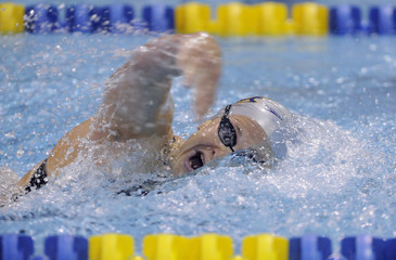 Leverenz competes in women's 400m IM event during USA Swimming Grand Prix Charlotte Ultra Swim at the  Mecklenburg County Aquatic Center in Charlotte