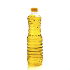 oil bottle plastic isolated on white background