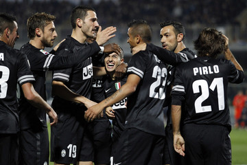 Juventus's Giovinco celebrates after scoring against Pescara during their Italian Serie A soccer match in Pescara