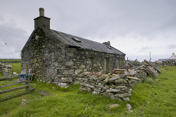 Srone house, Shetland Islands, UK