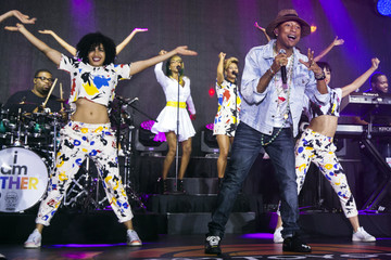 """Singer Pharrell Williams performs on NBC's """"Today"""" show in New York"""