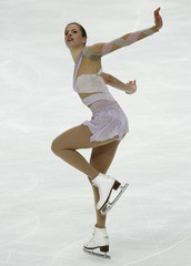 Kostner of Italy competes during twomen's free skating competition at ISU World Figure Skating Championships in Moscow
