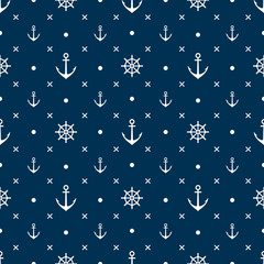 anchor seamless pattern vector black background
