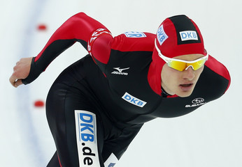 Beckert of Germany competes during the men's 5000m event at the Essent ISU World Single Distances Championships 2013 in Sochi