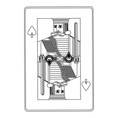 king of spades playing cards vector illustration