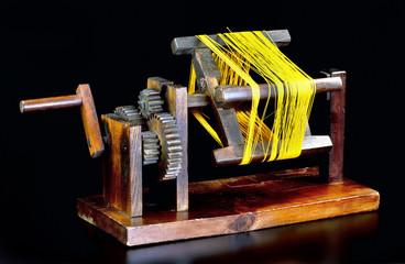 Antique Japanese Zakuri Silk Reel.