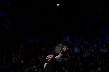 Great Britain's Andy Murray in action during the final against Serbia's Novak Djokovic