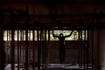 The Wider Image: Brick carrier builds social success