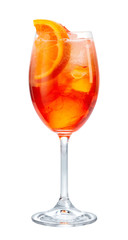 glass of aperol spritz cocktail