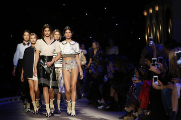 Models present creations from the Tommy Hilfiger Fall/Winter 2016 collection during New York Fashion Week.