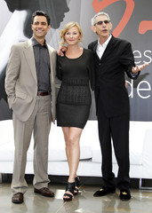 Cast members Pino, Giddish and Belzer  pose during a photocall at the 52nd Monte Carlo Television Festival in Monaco