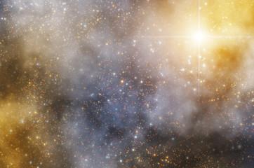 Milky way stars - 3D render / illustration.
