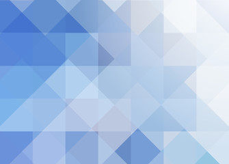 Blue geometric transparent background. Abstract background with squares and rhombuses. Vector illustration