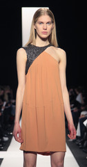 A model presents a creation from the Narciso Rodriguez  Fall 2010 collection during New York Fashion Week