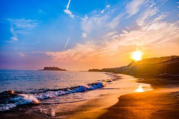 七里ガ浜からの夕焼け