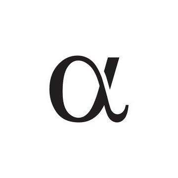 alpha logo vector