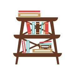 Small stand with books