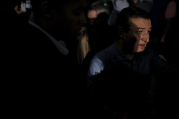 U.S. Republican presidential candidate Ted Cruz talks to supporters after a campaign event in Des Moines, Iowa