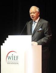 Malaysia's Prime Minister Najib Razak delivers keynote address at 6th World Islamic Economic Forum in Kuala Lumpur
