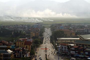 General view of Muong Thanh valley is seen Dien Bien Phu city