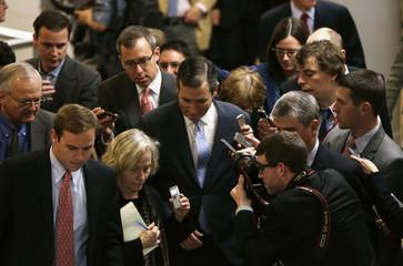 Senator Cruz of Texas goes to Senate floor to cast vote on $1.1 trillion spending bill in Washington