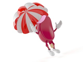 Ice cream character with parachute