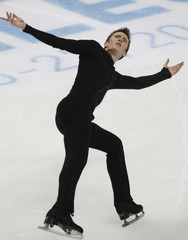 Abbott of the U.S. performs during the men's free skating program at the ISU Grand Prix of Figure Skating Rostelecom Cup in Moscow