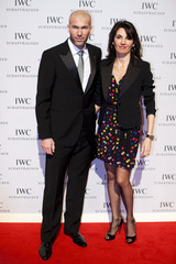 Former French soccer player Zidane and his wife arrive for the Swiss watchmaker IWC party in Geneva