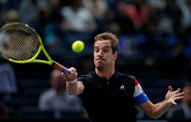 Tennis - Paris Masters tennis tournament third round - Richard Gasquet of France v Jack Sock of the U.S.