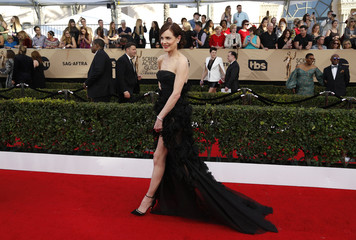 Actress Elizabeth McGovern arrives at the 23rd Screen Actors Guild Awards in Los Angeles