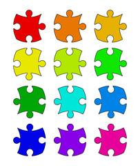 puzzle  set vector symbol icon design.