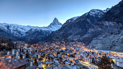 Matterhorn and Zermatt view