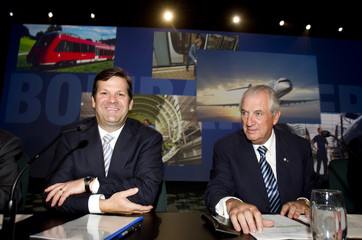 Bombardier's Beaudoins prior to company's annual meeting in Montreal