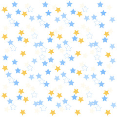 Simple seamless cute star pattern over white