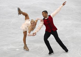 Germany's Savchenko and Szolkowy compete during the pairs free skating program at the ISU World Figure Skating Championships in Saitama