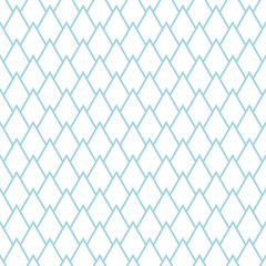 Abstract colored seamless pattern. Blue and white textile print