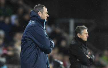 Southampton manager Claude Puel and Swansea City manager Paul Clement