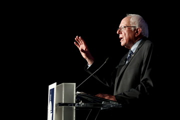 Sanders delivers remarks at a Congressional Hispanic Caucus Institute presidential candidates forum in Washington