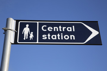 Central Train Station Sign