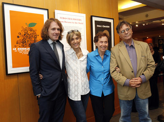 """Murray, Torres, Bravo and Ureta pose at a special screening of """"Strawberry and Chocolate"""" at Academy of Motion Picture Arts and Sciences in Beverly Hills"""
