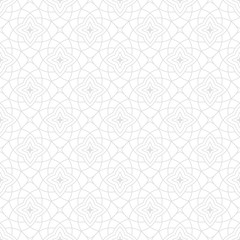 Arabic seamless patterns. Gray ornaments for textile and fabric