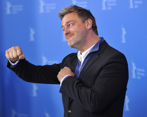 """Cast member Ray Stevenson poses during a photocall to promote the movie """"Jayne Mansfield's Car"""" at the 62nd Berlinale International Film Festival in Berlin"""