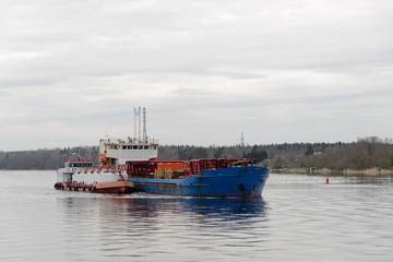 Bunkering at anchor